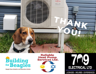 Thank you Reliable Heat Pump Services Ltd. and 709 Electrical Ltd!